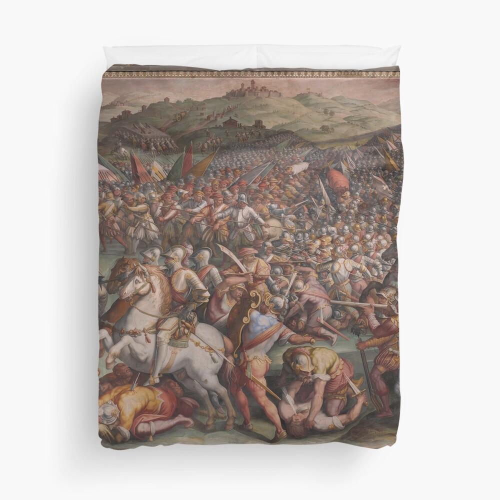Classic Art The battle of Marciano in Val di Chiana By Giorgio Vasari Duvet Cover