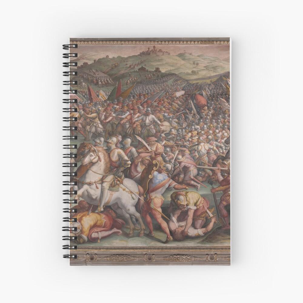 Classic Art The battle of Marciano in Val di Chiana By Giorgio Vasari Spiral Notebook