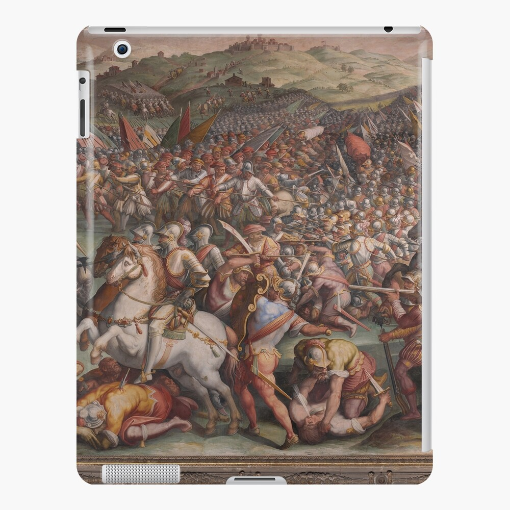 Classic Art The battle of Marciano in Val di Chiana By Giorgio Vasari iPad Case & Skin