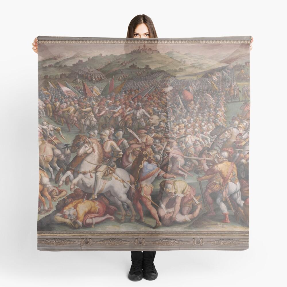 Classic Art The battle of Marciano in Val di Chiana By Giorgio Vasari Scarf