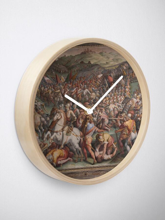 Alternate view of Classic Art The battle of Marciano in Val di Chiana By Giorgio Vasari Clock