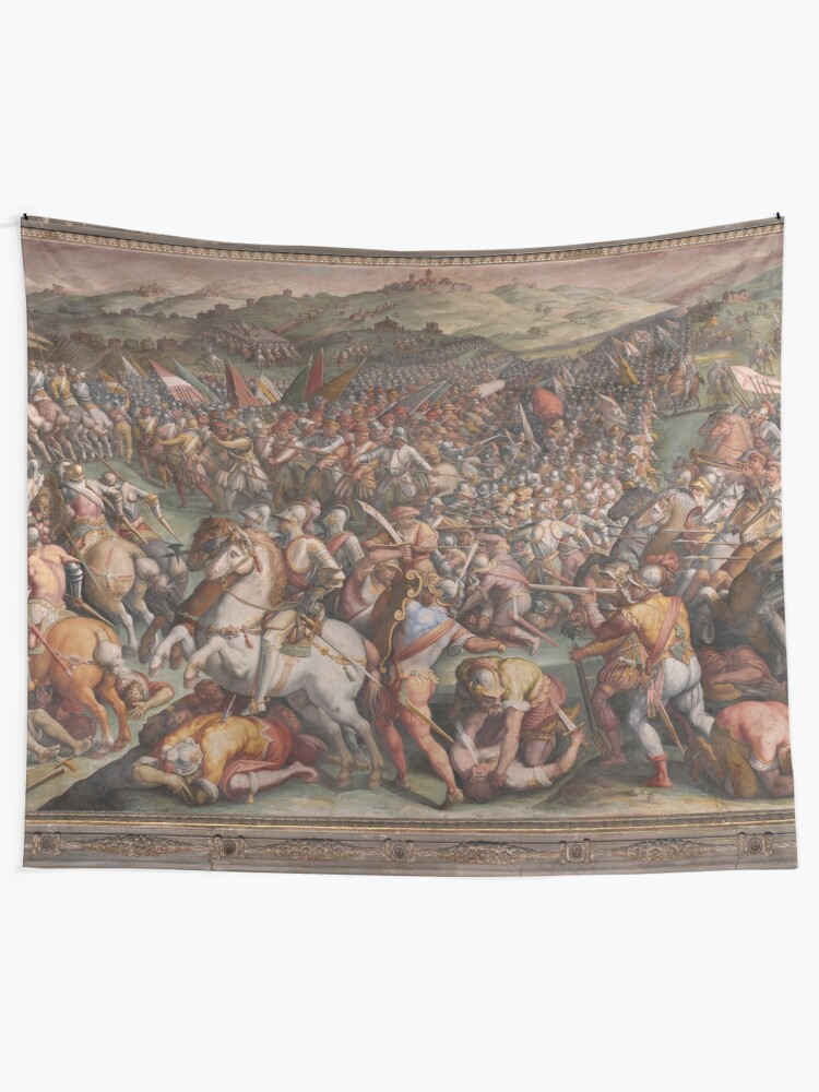 Alternate view of Classic Art The battle of Marciano in Val di Chiana By Giorgio Vasari Tapestry