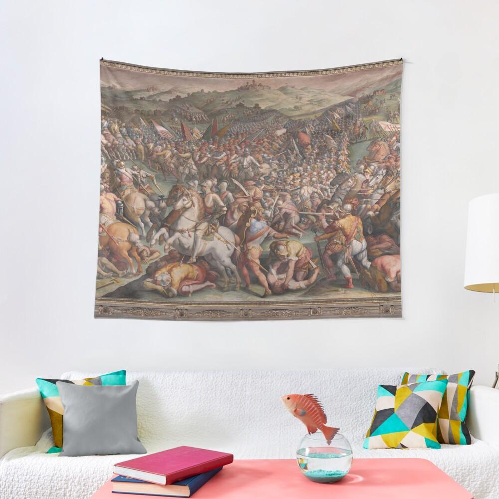 Classic Art The battle of Marciano in Val di Chiana By Giorgio Vasari Tapestry