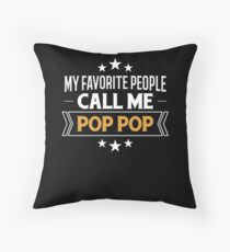 Grandpa Gift My Favorite People Call Me Pop Pop Grandfather Present Floor Pillow