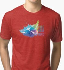 Free Your Mind - Dove Tri-blend T-Shirt