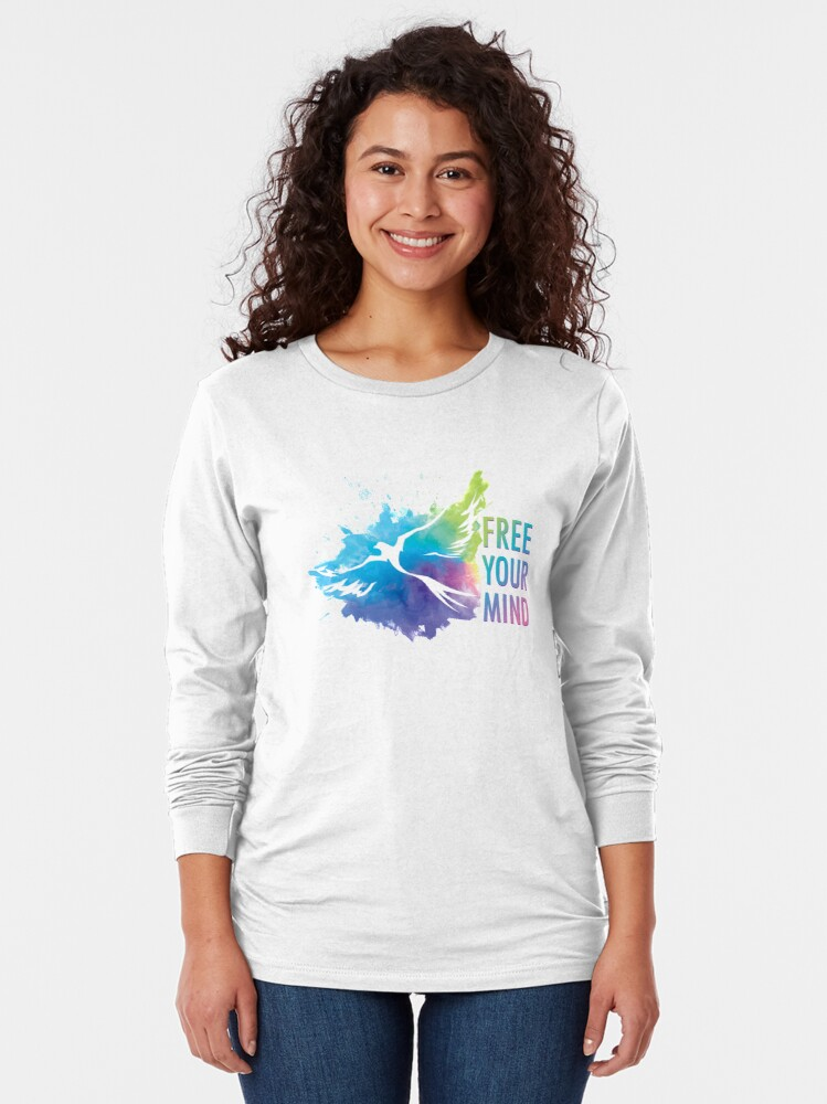 Alternate view of Free Your Mind - Dove Long Sleeve T-Shirt