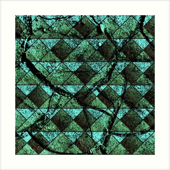 Distressed geometric pattern by Gaspar Avila