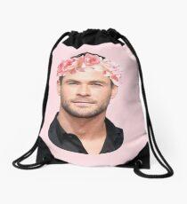 Chris Hemsworth Flower Crown Drawstring Bag