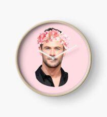 Chris Hemsworth Flower Crown Clock