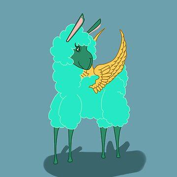 Flying Llama by KHRArts
