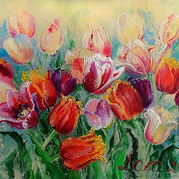 Lights and Sparks. The Bouquet of Spring Tulips by Lvova