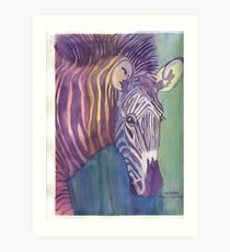 Multi Colored Zebra Art Print