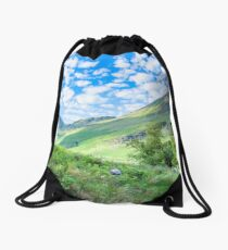Lake District landscape Drawstring Bag