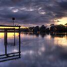 River sunrise. by Steve Chapple