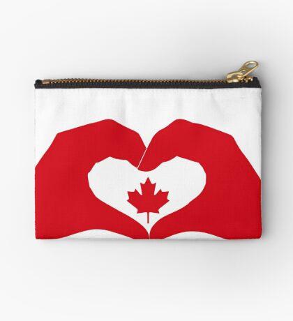 We Heart Canada Patriot Flag Series 1.0 Zipper Pouch