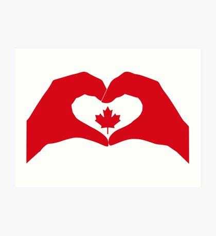 We Heart Canada Patriot Flag Series 1.0 Art Print