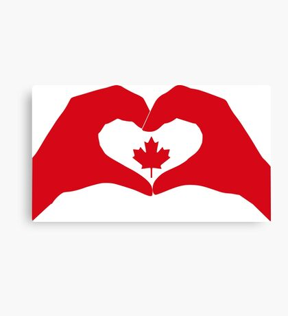 We Heart Canada Patriot Flag Series 1.0 Canvas Print