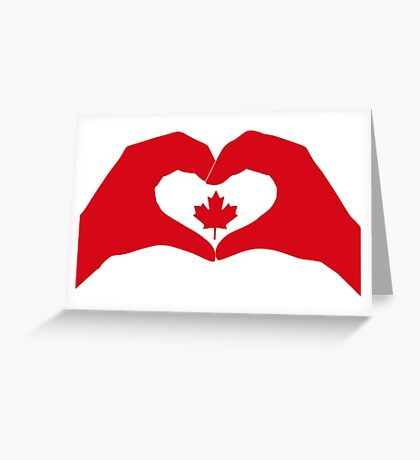 We Heart Canada Patriot Flag Series 1.0 Greeting Card