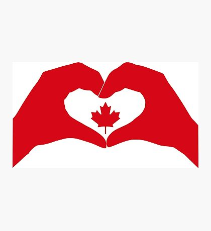 We Heart Canada Patriot Flag Series 1.0 Photographic Print