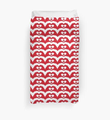 We Heart Canada Patriot Flag Series 1.0 Duvet Cover