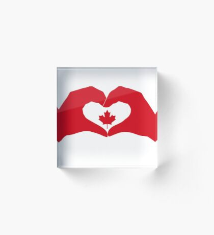We Heart Canada Patriot Flag Series 1.0 Acrylic Block