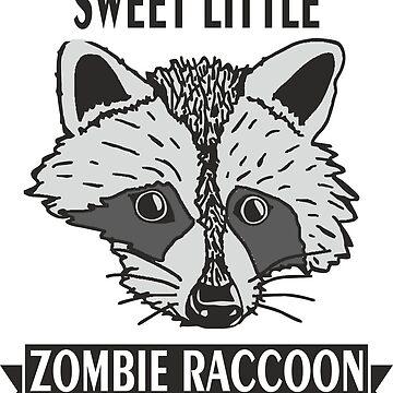 Zombie Raccoon Cute Trash Panda Men Woman Gift T-Shirt by dereinst