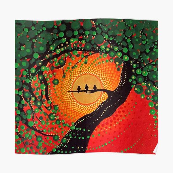 cuz chaque petite chose va aller bien!  Il s'agit d'une photographie de la peinture originale de Kaila Lance.  Oeuvre originale vendue à KailasCanvas.Etsy.com  ONE LOVE Poster