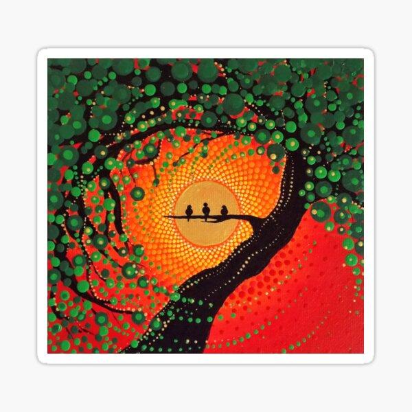 ¡Porque cada pequeña cosa va a estar bien!  Esta es una fotografía de la pintura original de Kaila Lance.  Obra original vendida en KailasCanvas.Etsy.com  UN AMOR Pegatina