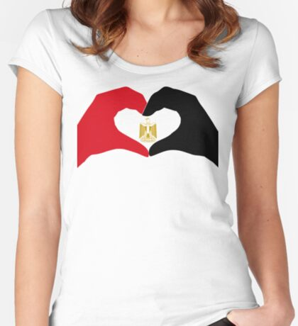 We Heart Egypt Patriot Flag Series  Fitted Scoop T-Shirt
