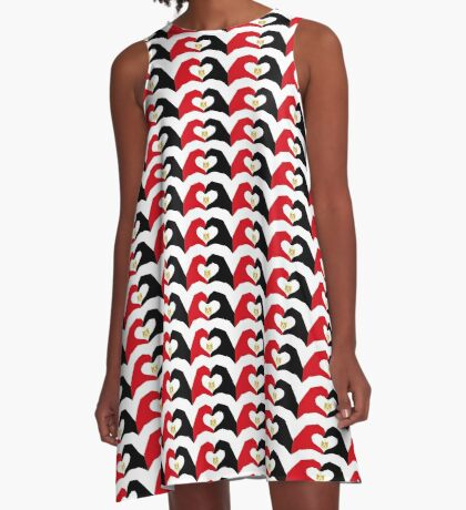 We Heart Egypt Patriot Flag Series  A-Line Dress