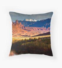Moab Scenic Route Throw Pillow