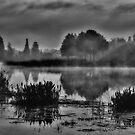Foggy Carillon Lake by sailorsedge