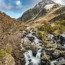 Tryfan and Ogwen Falls by Adrian Evans