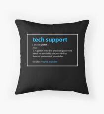 Cojín Regalo de soporte técnico Definición Divertido informático Geek presentes