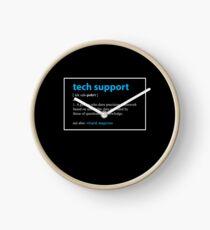 Reloj Regalo de soporte técnico Definición Divertido informático Geek presentes