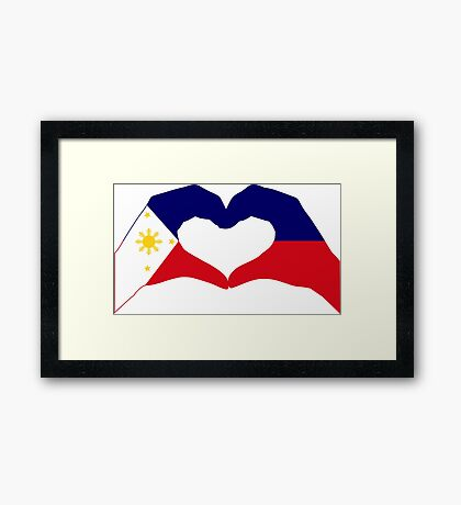 We Heart Philippines Patriot Series Framed Print