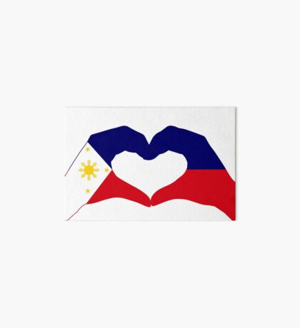 We Heart Philippines Patriot Series Art Board Print