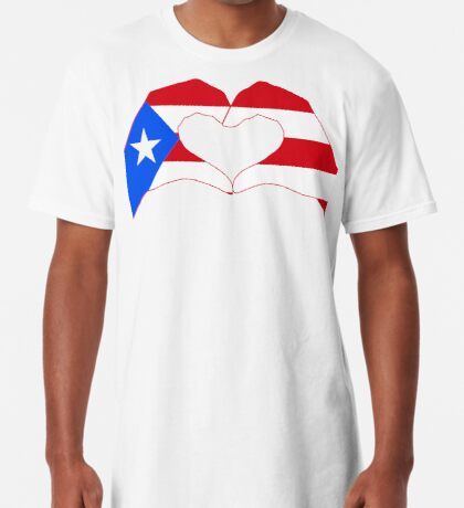 We Heart Puerto Rico Patriot Series Long T-Shirt