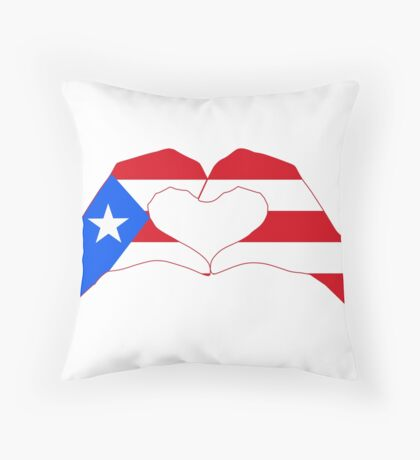 We Heart Puerto Rico Patriot Series Throw Pillow