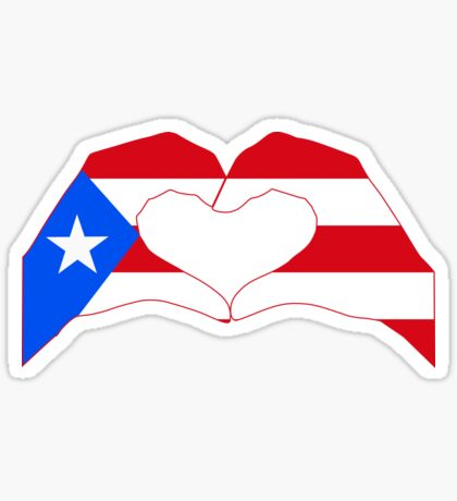 We Heart Puerto Rico Patriot Series Sticker