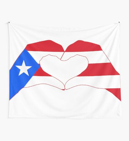 We Heart Puerto Rico Patriot Series Wall Tapestry