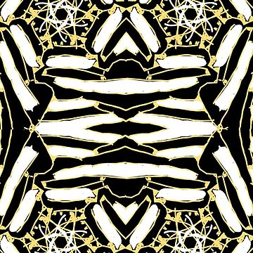 Maybe bees abstract print  by Christidesigns
