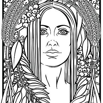Harvest Goddess by saraadrian