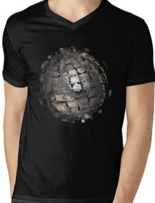 Fractal Titanium Sphere Mens V-Neck T-Shirt