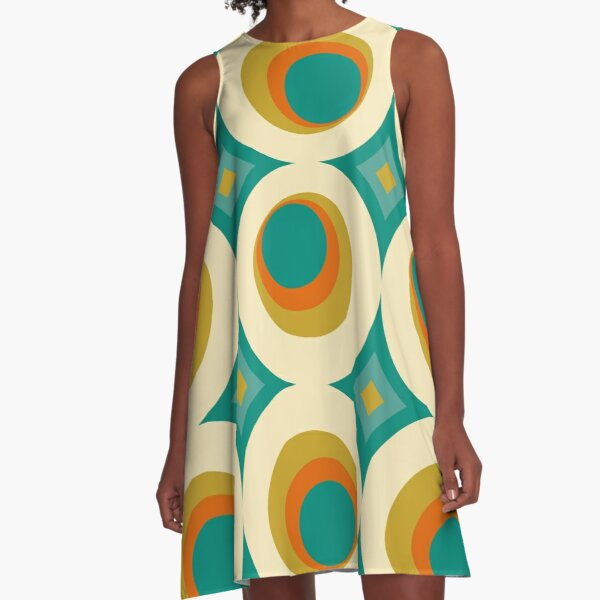 Mid-Century Modern Splash A-Line Dress