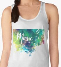 Abstract-colorful-grunge-style-musical-background Women's Tank Top