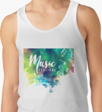 Abstract-colorful-grunge-style-musical-background Tank Top