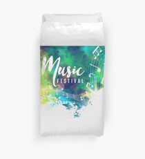 Abstract-colorful-grunge-style-musical-background Duvet Cover