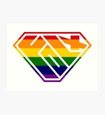 Folx SuperEmpowered (Rainbow) Art Print