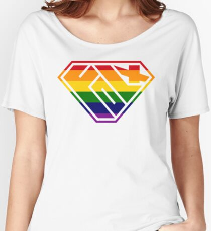 Folx SuperEmpowered (Rainbow) Women's Relaxed Fit T-Shirt